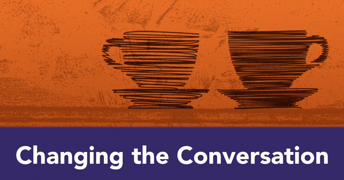 Orange changing the conversation social change podcast logo