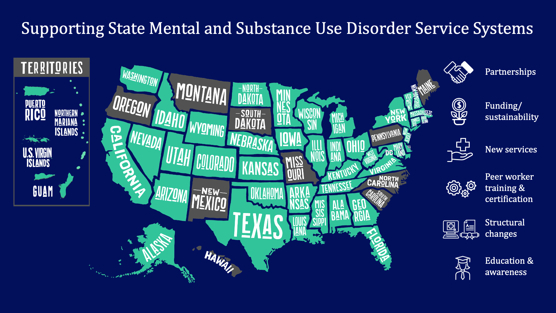 Supporting state mental and substance use disorder services
